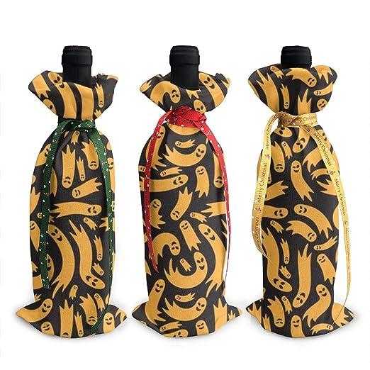 3 bolsas decorativas para botellas de vino, bolsas de ...