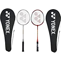 Yonex GR 303 Combo Aluminum Badminton Racquet, Set of 2 (Silver/RED)