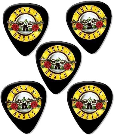 Guns N Roses Circle Logo Premium Guitarra Púa para guitarra (Picks X 5: Amazon.es: Instrumentos musicales