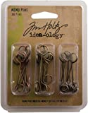 Metal Memo Pins by Tim Holtz Idea-ology, Pack of 30, 1-1/2 Inches, Antique Finishes, TH92833