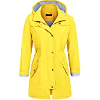 SoTeer Womens Lightweight Hooded Waterproof Active Outdoor Rain Jacket S-XXL