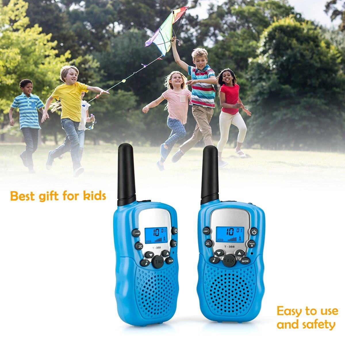 Walkie Talkies, ZoiyTop 22 Channel Two Way Radio 3-5 Miles FRS/GMRS Handheld Mini Walkie Talkies for Kids ( 2 Pcs Blue)