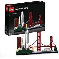 LEGO Architecture Skyline Collection 21043 San Francisco Building Kit Includes Alcatraz Model, Golden Gate Bridge and Other San Francisco Architectural Landmarks