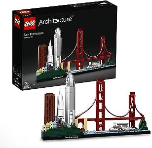LEGO Architecture Skyline Collection 21043 San Francisco Building Kit Includes Alcatraz Model, Golden Gate Bridge and Other San Francisco Architectural Landmarks