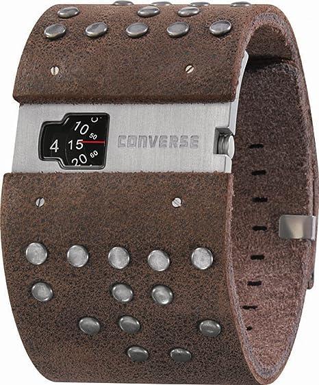 Converse VR020-200 - Reloj unisex de cuarzo, correa de piel color marrón: VR2-2: Amazon.es: Relojes
