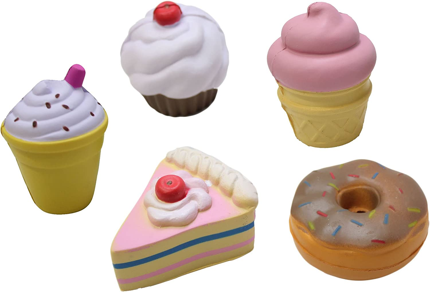 Curious Minds Busy Bags Bundle of 5 Sweet Treats Food Stress Balls Small Novelty Toy