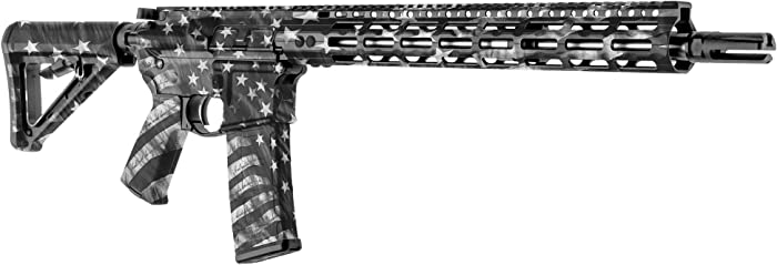 GunSkins AR-15 Rifle Skin - Premium Vinyl Gun Wrap with Precut Pieces - Easy to Install and Fits Any AR15 or M4-100% Waterproof Non-Reflective Matte Finish - Made in USA