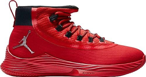 sports shoes e5759 78905 Jordan Mens Ultra Fly 2 TB University Red Black-Action Red-Metallic Silver