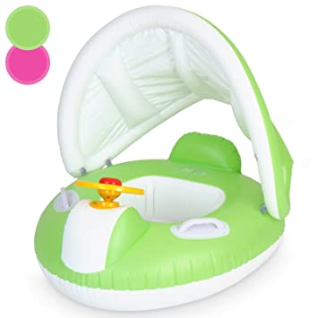 Infantastic Inflatable Baby Swimming Float Seat Ring with Canopy Sun Shade Safety Swim Beach Pool Boat  sc 1 st  Amazon UK & Infantastic Inflatable Baby Swimming Float Seat Ring with Canopy ...