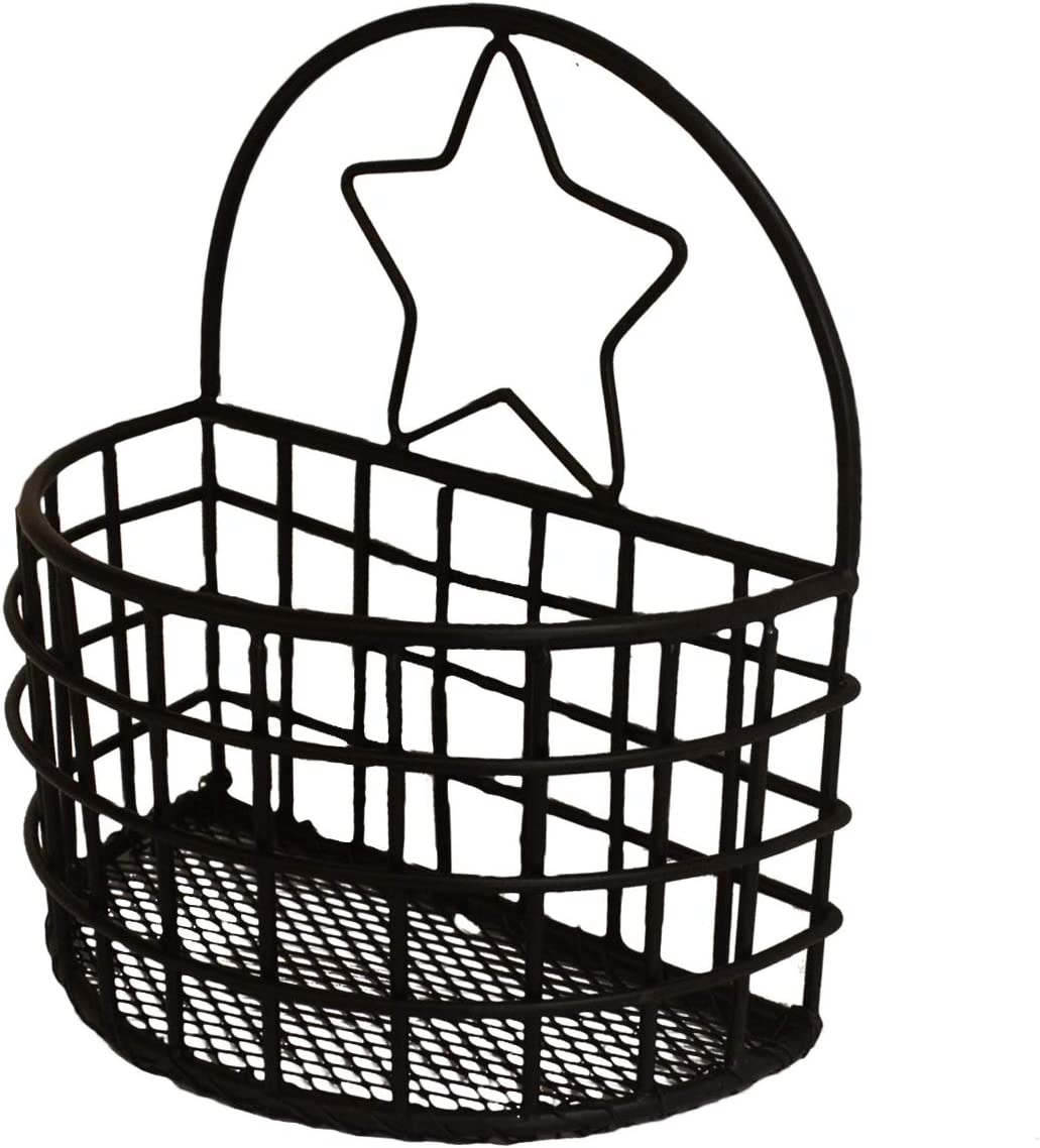 NIRMAN Small Wire Storage Basket with Kitchen Food Pantry Papers Home Office Desk Shelf Bathroom Laundry Room Shelf Bedroom Bed Room.(7.25