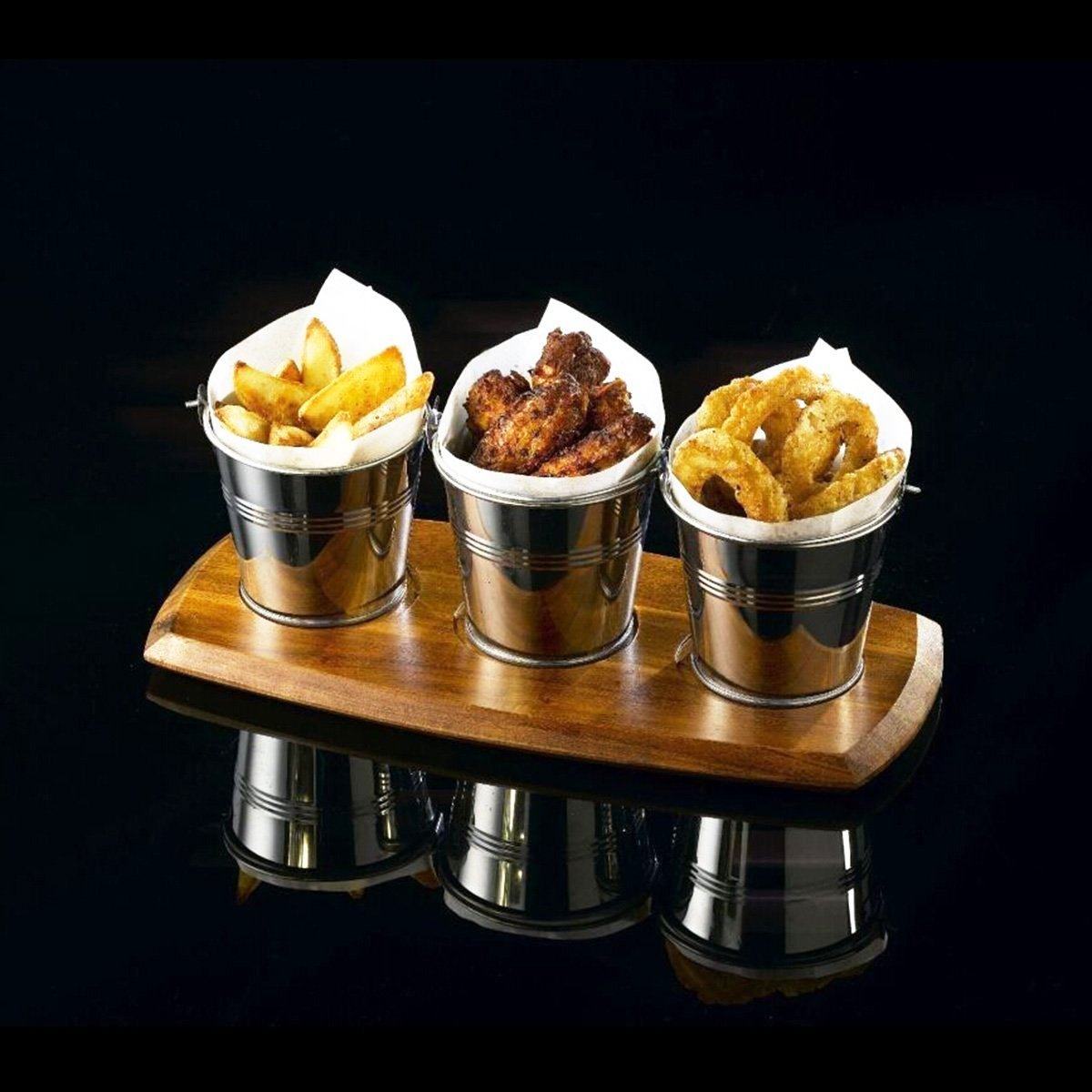OUNONA Mini Metal Bucket Set of 6 /Mini Food Containers/Succulent Wedding Buckets 10.5x7.2x10.5cm by OUNONA (Image #7)