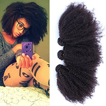 CARA Hair Unprocessed Virgin Mongolian Afro Kinky Curly Human Extensions For Black Women Natural