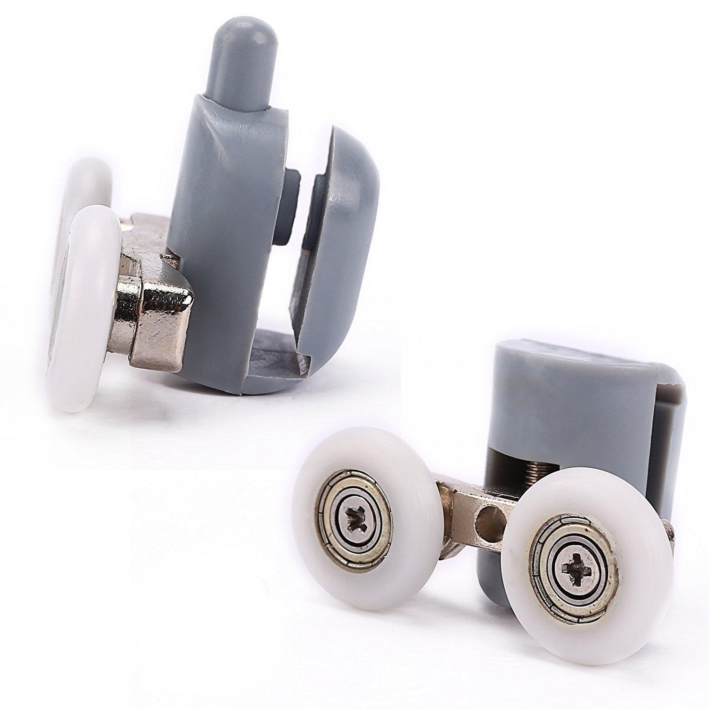 Lance Home Almohadilla ducha Kit 8/Doble Rodillo Rodillo ruedas rodamientos ruedas giratorias para la puerta Ducha cabina 23/mm