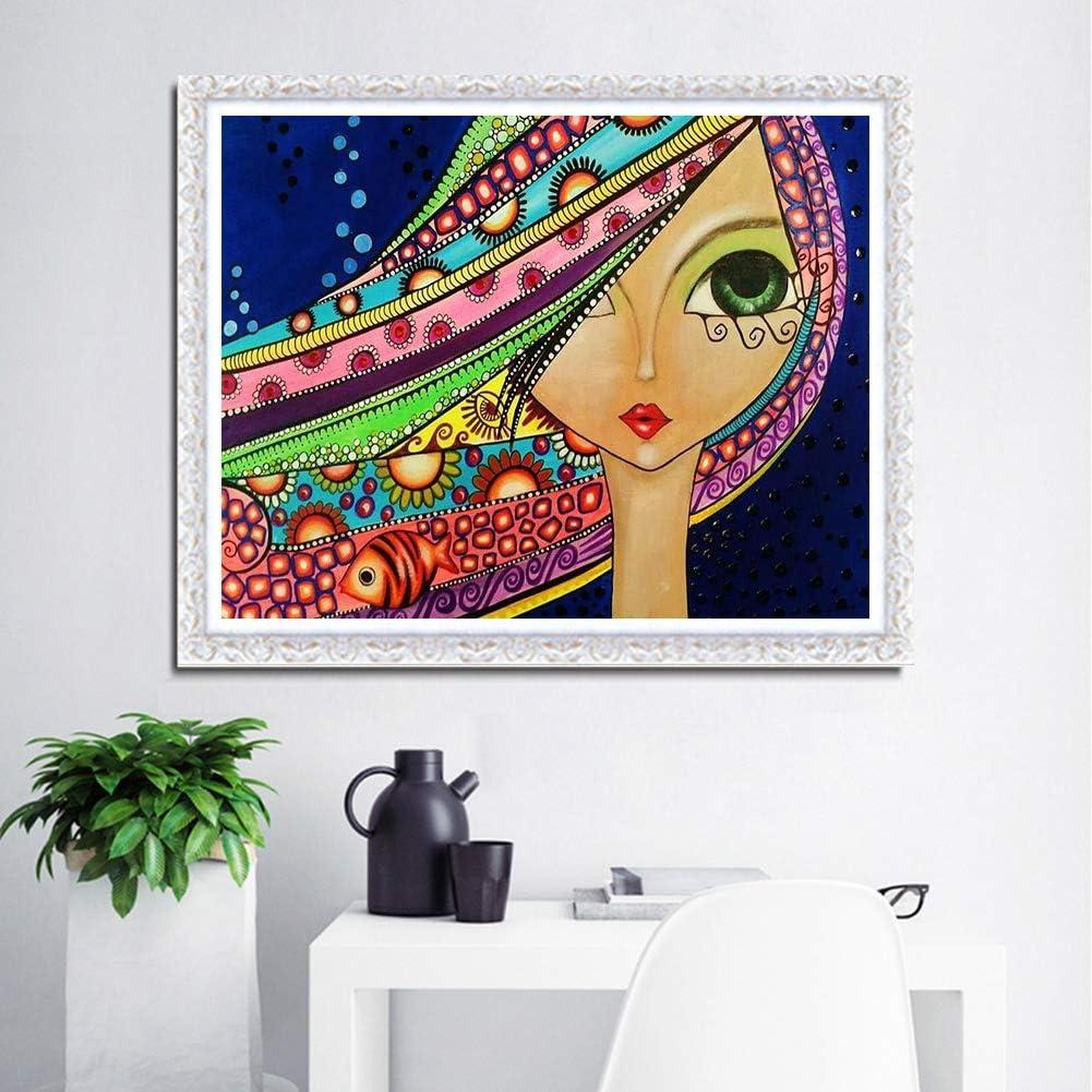 Sunnay 5D Diamond Painting Strass Complet femme 30X40cm DIY Strass /à broder au point de croix Arts Craft pour tableau decoration murale salon Broderie diamant kit complet