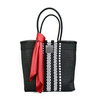 def75e668954d GO2 Handmade woven recycled plastic tote. 2 sizes