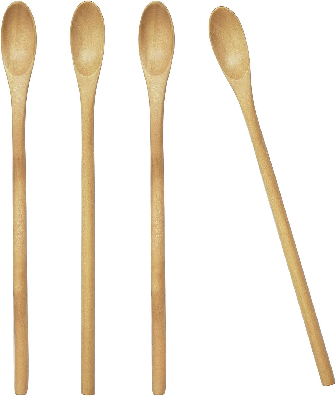 Kitchen Dining Coffee Accessories Honey Tea Scoops Wooden Spoon Long Handle