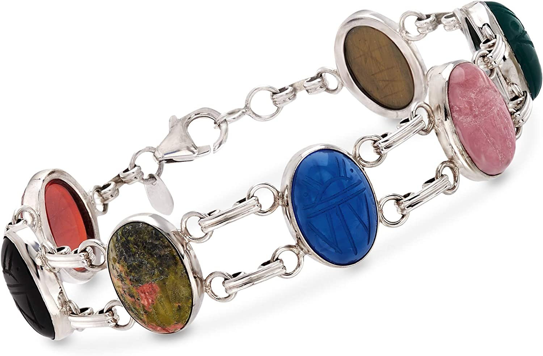 Ladies multiple star gem anklet 25cm 925 silver womans jewellery present gift