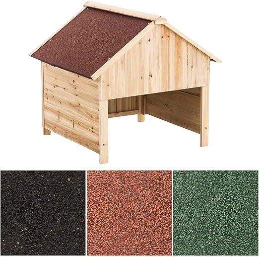 CLP Caseta de Madera para Robots Cortacésped I Garaje de Madera para Cortacésped I Caseta Exterior Resistente a Rayos UV I Color: Rojo: Amazon.es: Jardín