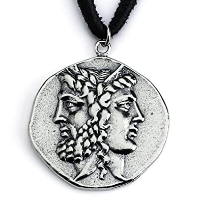 Amazon 925 sterling silver replica janiform head of zeus and 925 sterling silver replica janiform head of zeus and hera greek coin pendant necklace mozeypictures Choice Image
