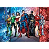 "DC Comics – Justice League – Team Picture – Unique MightyPrint Wall Art – 17"" x 24"" – NOT MADE OF PAPER – Perfect for…"
