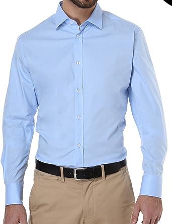 DICKSON Camisa Casual - Para Hombre Azul Celeste 44: Amazon ...