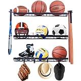 Mythinglogic Garage Sports Equipment Organizer, Sports Gear Storage for Kids, Wall Mount Garage Organizer and Storage…