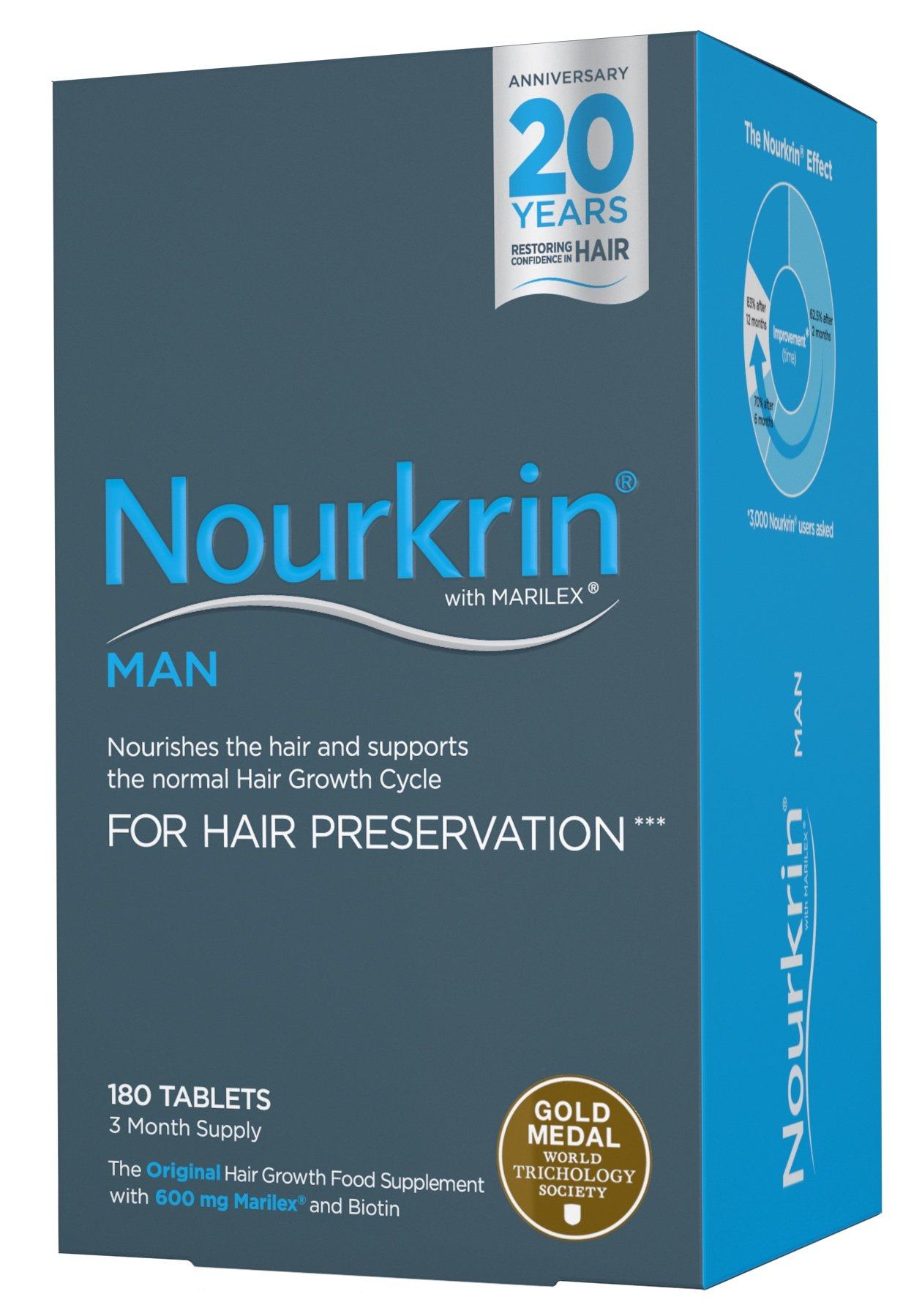 Nourkrin Man Starter Pack 180 tablets (3 months) by Nourkrin (Image #1)