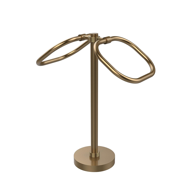 Allied真鍮クリア真鍮two-ring Ovalゲストタオルホルダー マルチカラー TB-20G-BBR 1 B01D0CKZRC Clear / Brushed, Bronze Finish Clear / Brushed, Bronze Finish