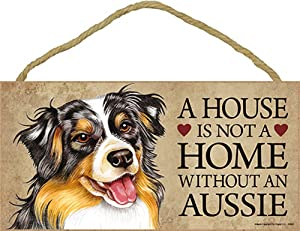 Australian Shepherd House is Not a Home Sign + Bonus Coaster