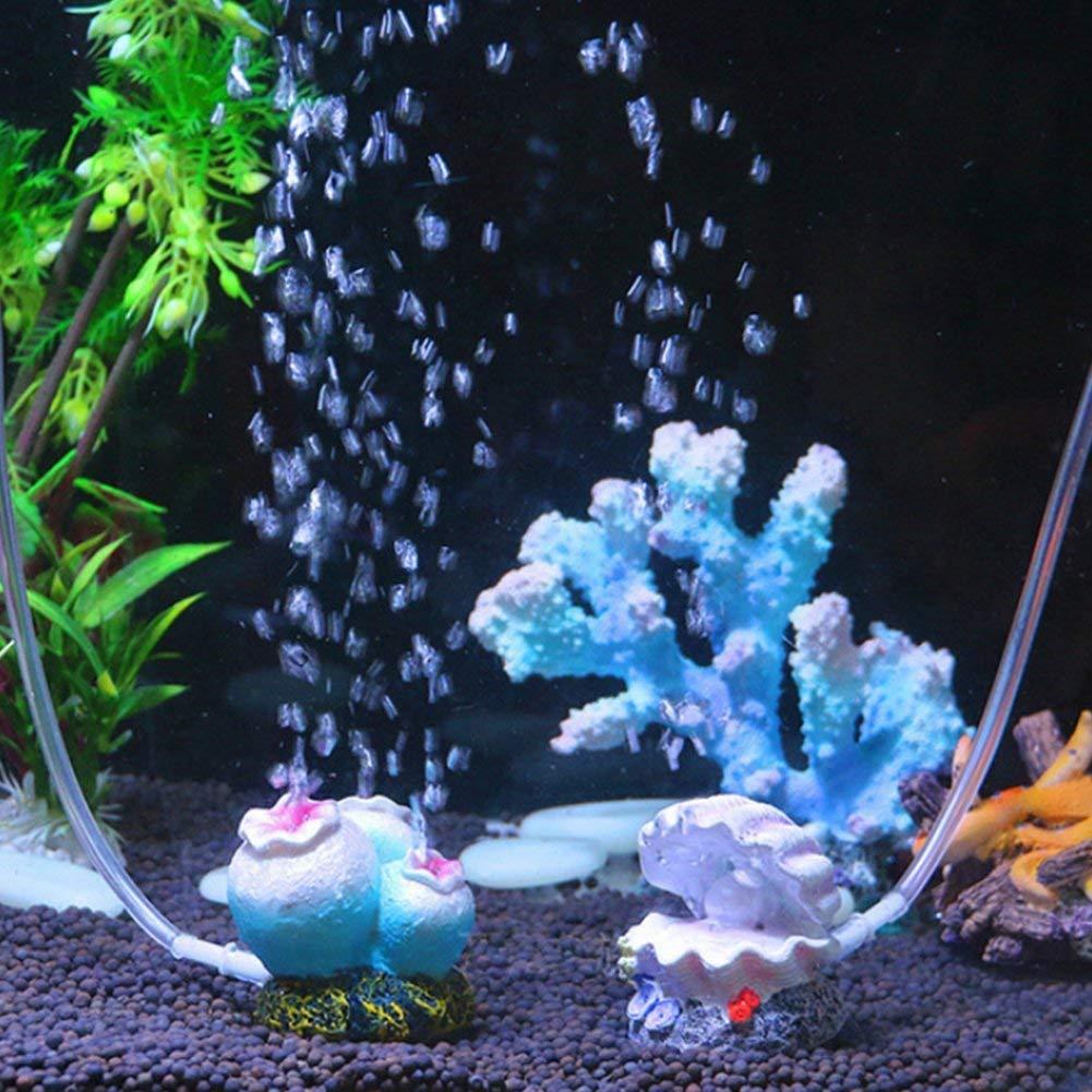Adorno de Acuario Coral Decoraciones - Bomba de Aire de Burbujas de Coral de Conchas tempranas de oxígeno de Resina Manualidades para Acuario pecera ...