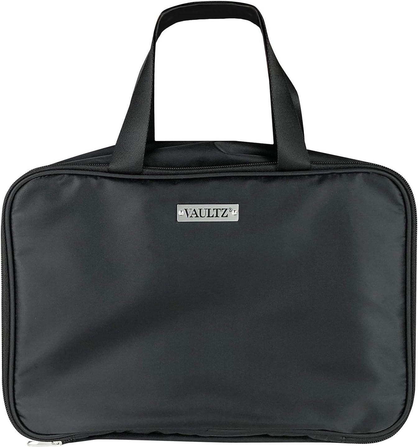 Vaultz Hanging Travel Bag with Interior Compartments, Black, VZ03896