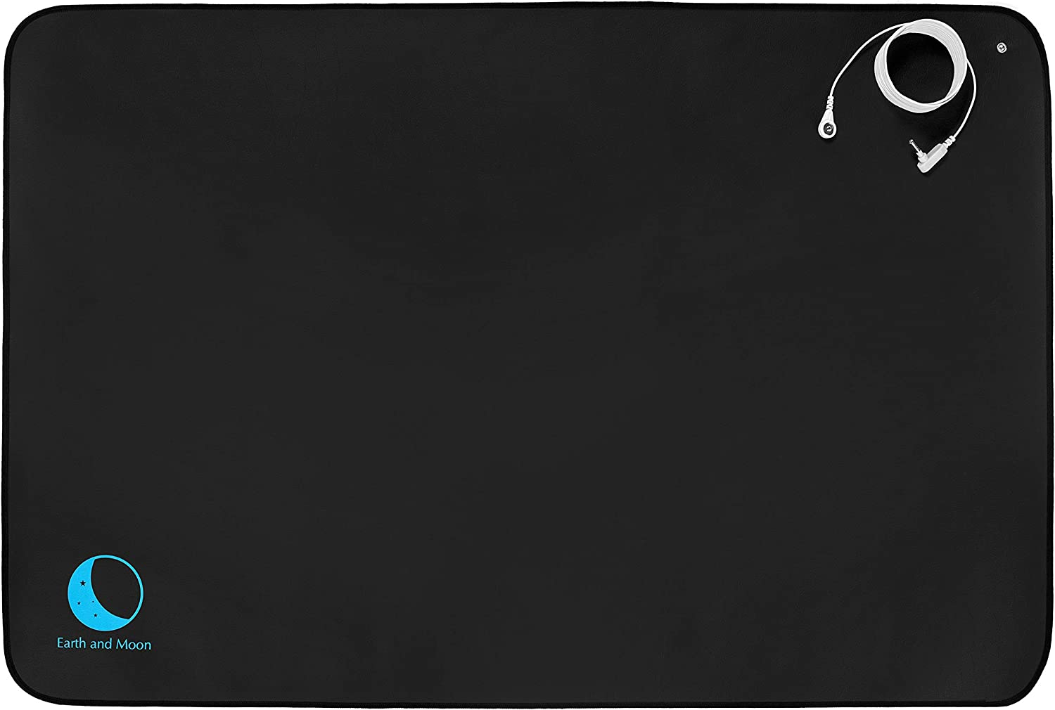 Earth and Moon Grounding Mat – Universal Earthing mats Plus Earthing Cord. Grounded Foot Therapy, Potential EMF and ESD Protection, Reduce Inflammation, Sleep Assist and Helps with Anxiety