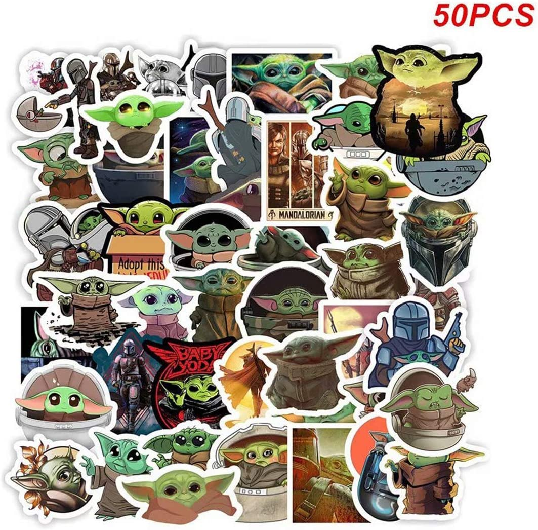 Baby Yoda Stickers The Mandalorian Yoda Star Wars Stickers for Car Suitcase Laptop Refrigerator Skateboard Motorcycle Bicycle Decals