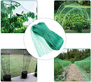 Harelgrow Bird Netting for Garden 5 x 65 Ft,Garden Plant Fruits Vegetable Fencing Mesh Protect Net