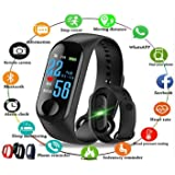 Kitronics M3 Smart Band Fitness Tracker Watch Heart Rate with Activity Tracker Waterproof Body Functions Like Steps Counter, Calorie Counter, Blood Pressure, Heart Rate Monitor LED Touchscreen