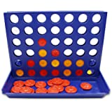 4 in a Row,QM-STAR Line Up 4 Game Classic Family 4 in a Row Board Game,Children 's Educational Toys Three-Dimensional 4 Chess for Kids and Family(Blue)