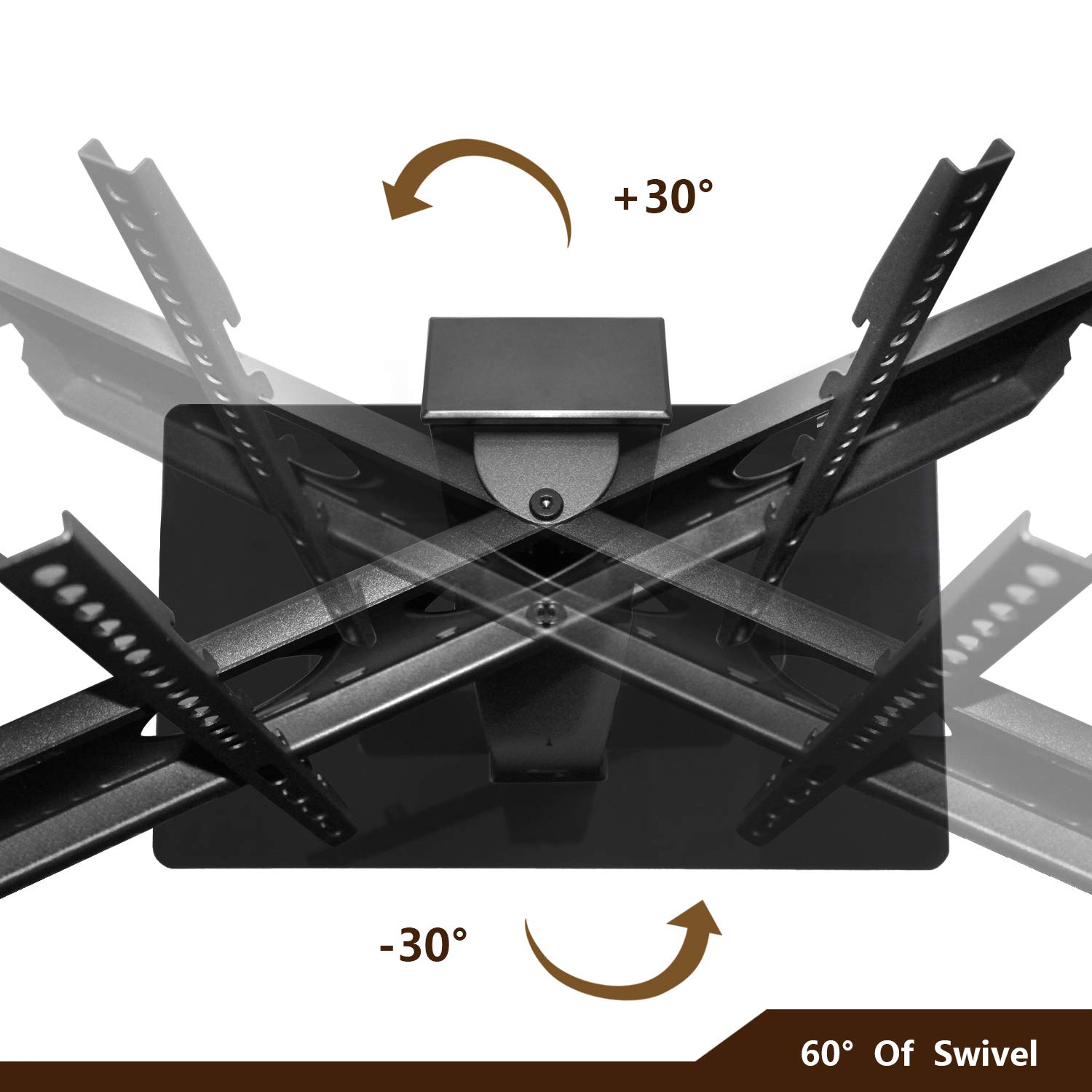 TAVR Universal Floor TV Stand Base with Swivel Height Adjustable ...