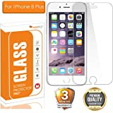 OpenTech® Tempered Glass Screen Protector for Apple iPhone 8 Plus with Installation kit (2.5 D and Full Transparent)