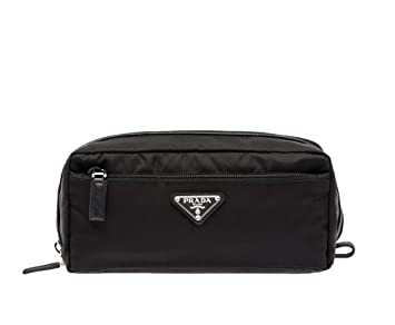 ff2b39118948 Amazon.com : Prada Nylon Toiletry Pouch, Nero (Black) : Beauty