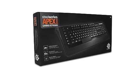 SteelSeries Apex RAW, teclado para juegos, con retroiluminación blanca, 17 Teclas Macro, Gestión de Software, (PC) - Disposición UK QWERTY: Amazon.es: ...