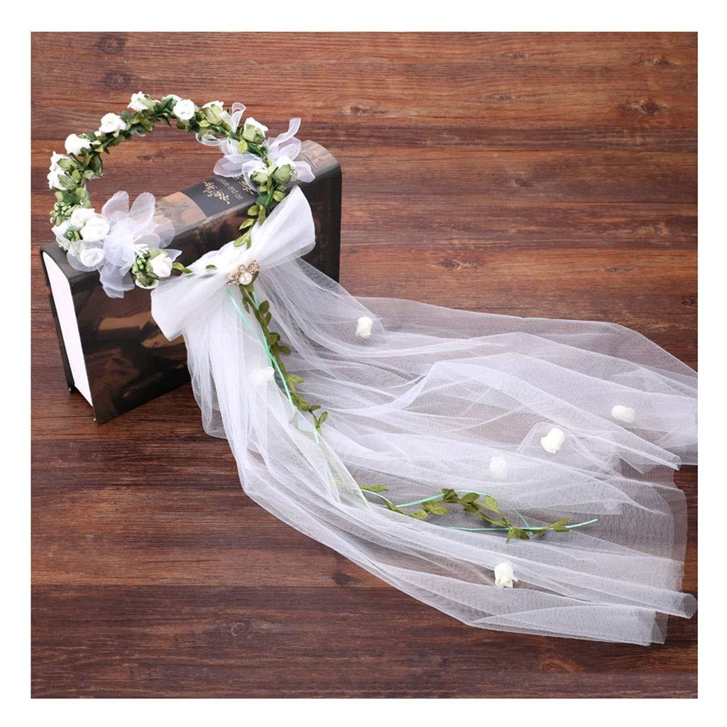 Wreath Flower Flower Headdress Hair Gauze Hair Band Sweet Hairdressing Bride Wedding Wedding Dress Accessories