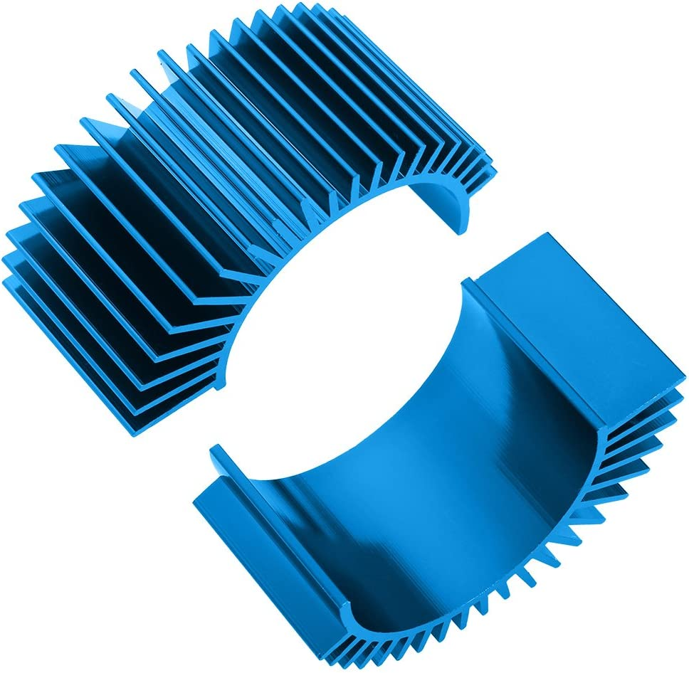 Hobbypark 2-Pack Aluminum Electric Motor Heat Sink Cooling Fins for RS540 550 540 3650 Size RC Parts