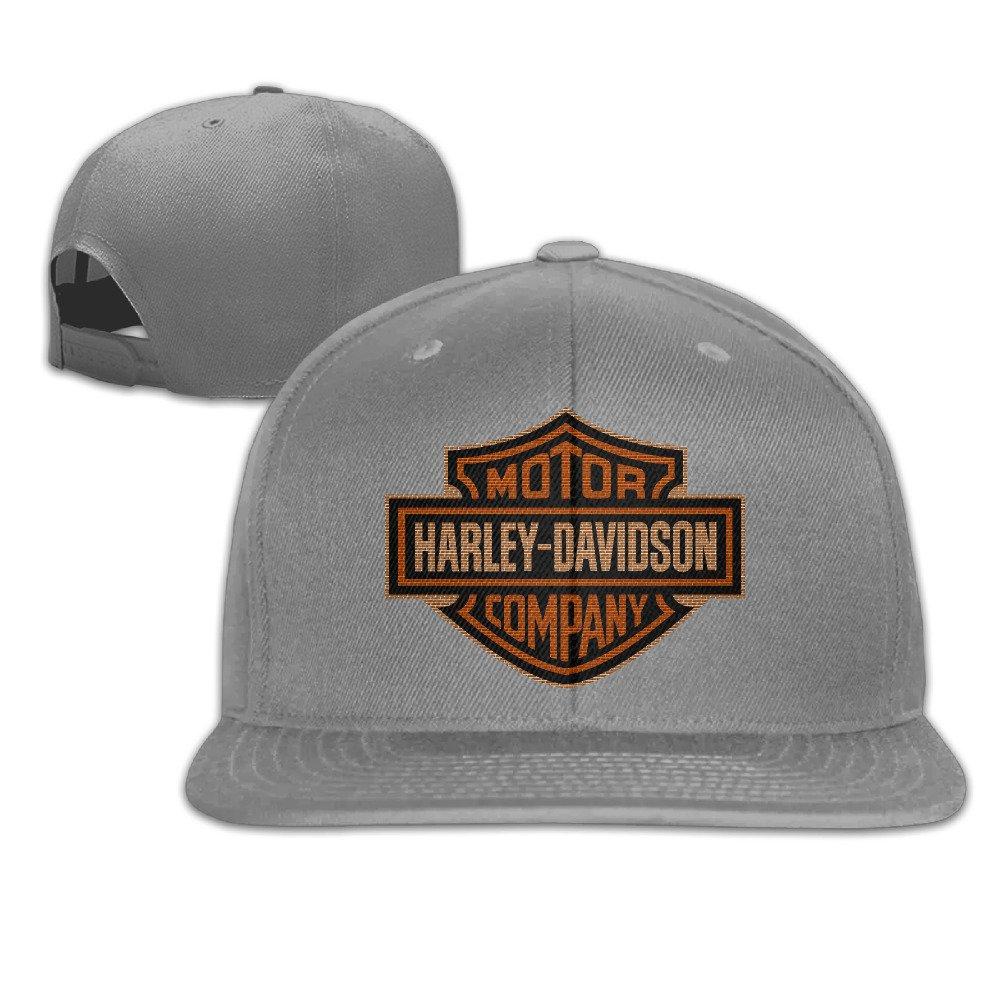 Harley Logo Flat Bill Hats//Panel Hat
