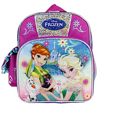 11ffea0a436 Image Unavailable. Image not available for. Color  Disney Frozen Anna and  Elsa Olaf Summer Flower Girls 10 quot  Pre School Backpack Bag