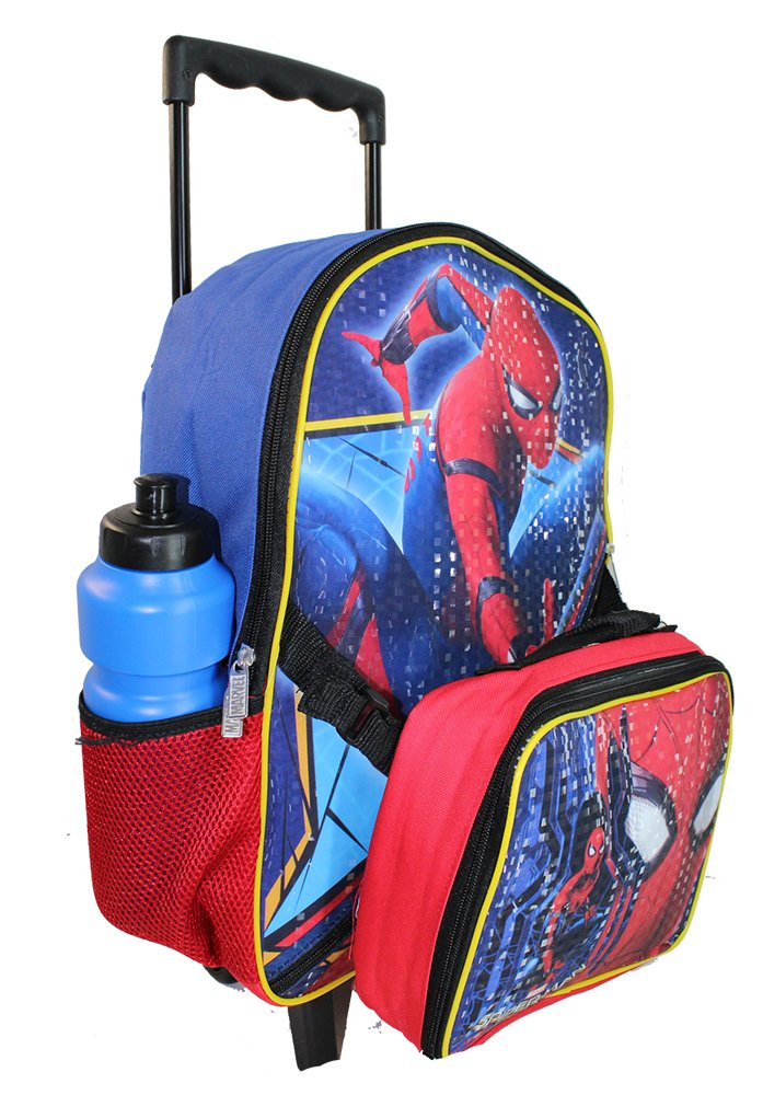 Amazon.com | New Spiderman Rolling Backpack Lunch Case. | Casual Daypacks