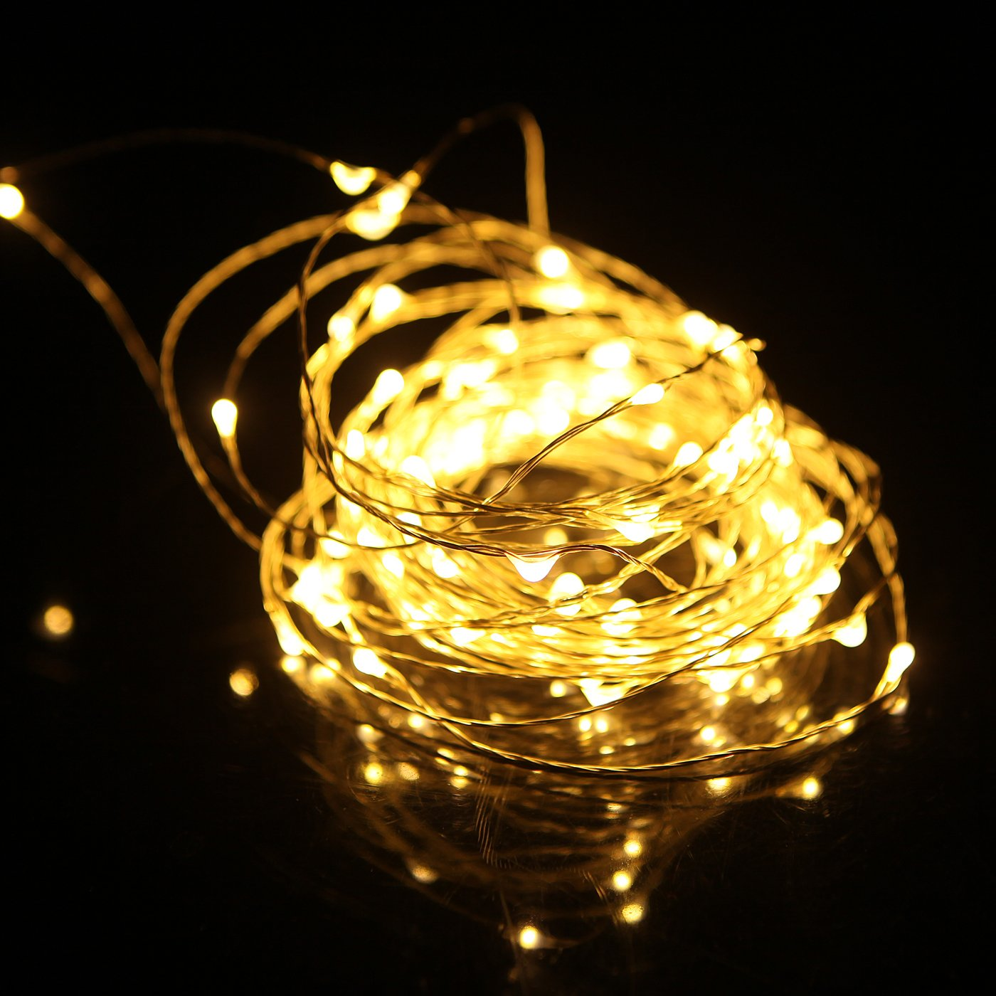 HDE Dimmable LED Fairy String Lights [Copper Wire] Waterproof Light Strand [Wire eBay