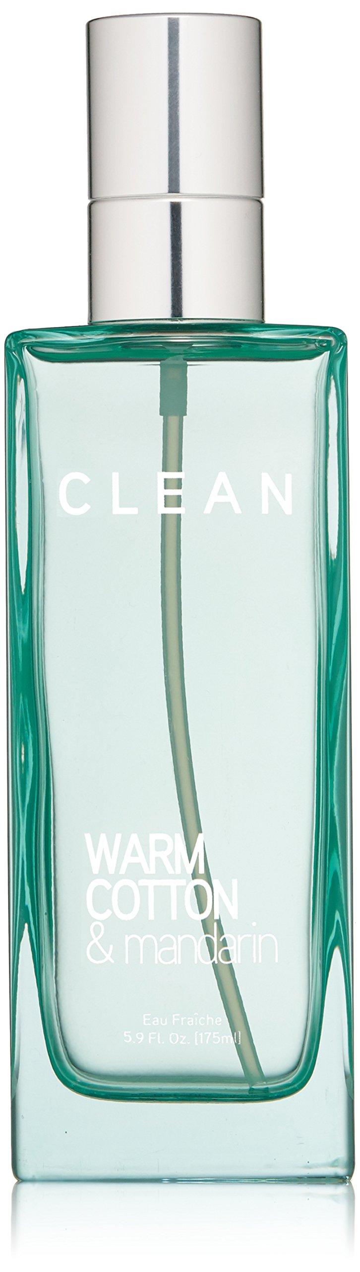 CLEAN Eau Fraiche Body Spray, Warm Cotton/Mandarin, 5.9 oz.