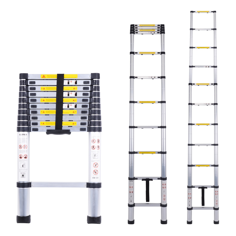 Myifan Telescopic Ladder Multi-Purpose Aluminium Telescoping Ladder Extension Extend Portable Ladder Foldable Ladder EN131Standards (3.2M/10.5Ft)