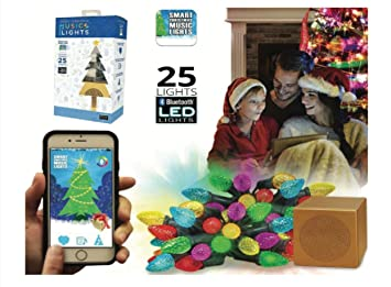 emio smart christmas music lights with blue tooth integrated speaker controlled by ios android