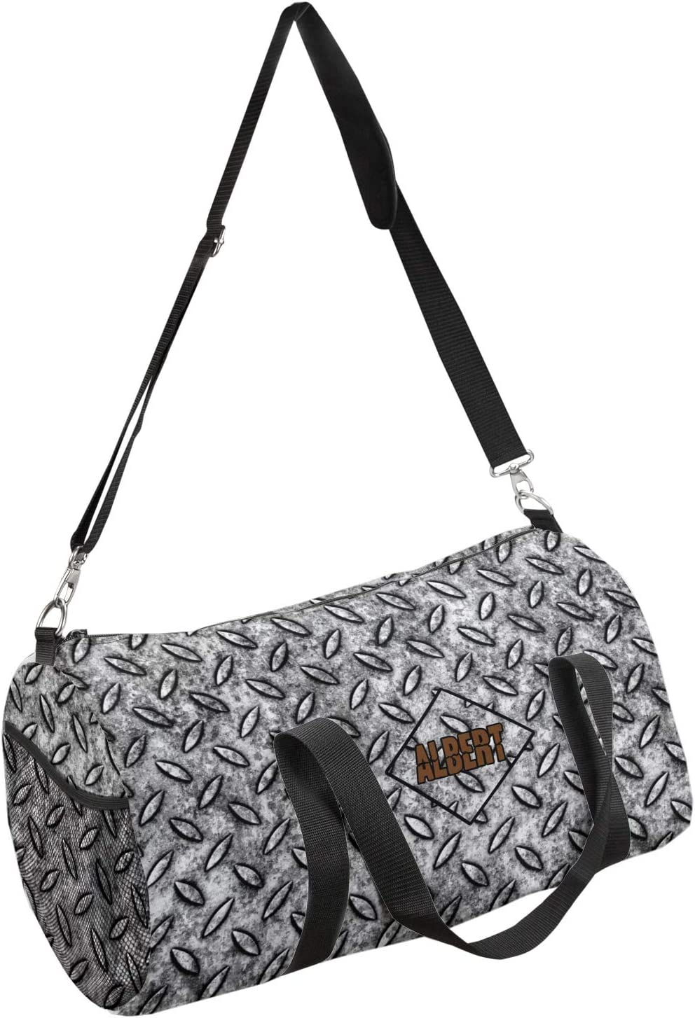 YouCustomizeIt Diamond Plate Duffel Bag Personalized